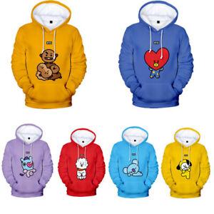 KPOP-BTS-BT21-Hooded-Sweatshirt-Bangtan-Boys-Hoodies-Casual-Sweater-Jimin-V-JIN
