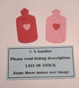 10 Hot Water Bottle Toppers Red Pink With Heart Get Well Soon Card Making Craft - Surrey, United Kingdom - 10 Hot Water Bottle Toppers Red Pink With Heart Get Well Soon Card Making Craft - Surrey, United Kingdom