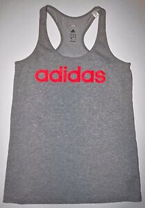 3abf0c03a6bdbe Image is loading Adidas-Climalite-Gray-Racerback-Tank-Top-Size-Small-