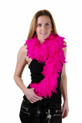 FEATHER BOA HEN NIGHT PARTY FANCY DRESS ACCESSORY GATSBY 80S FLUFFY BURLESQUE