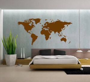 Huge world map wall art quote wall stickers home decals uk sh264 ebay image is loading huge world map wall art quote wall stickers gumiabroncs Image collections