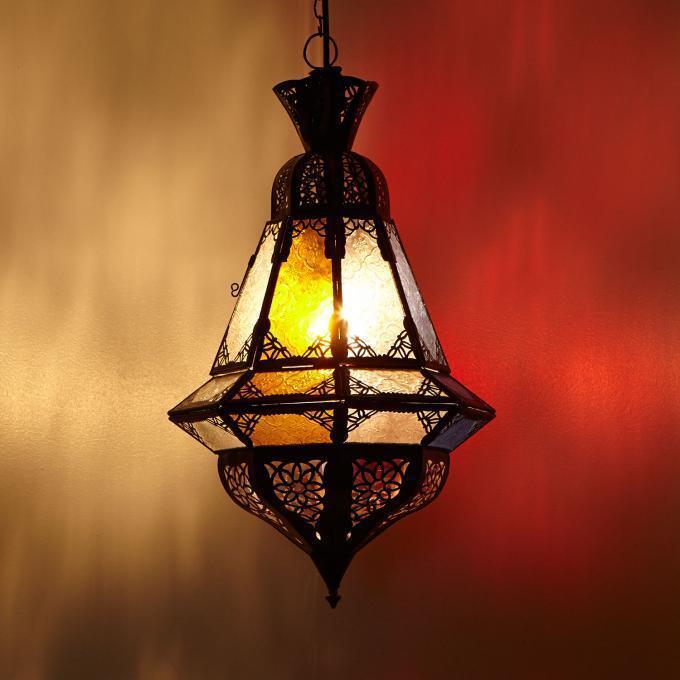 Laterne Hängeleuchte Houta Multifarbig Bunt Hängelaterne Lampe Leuchte Orient