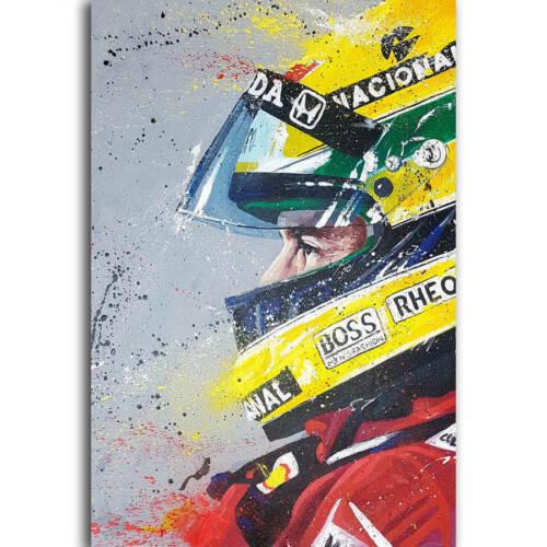 30 24x36 Poster Ayrton Senna F1 Player Racing Car Sport Super Star T-549