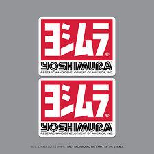 SKU2207 - 2 x Yoshimura Exhausts Decals / Stickers - 100mm x 77mm