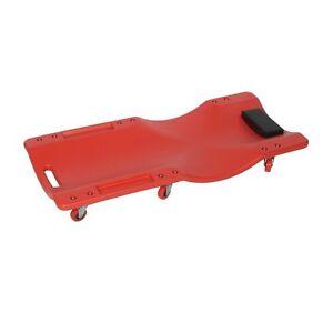 Carrellino//Lettino sotto auto con funzione sgabello per meccanico//officina con poggia testa