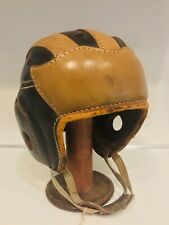 MICHIGAN WOLVERINES Vintage Game Used Style 1940s Leather Wing Football Helmet