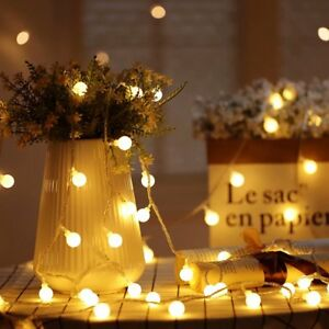 Image Is Loading 40 Led Outdoors Globe String Lights For