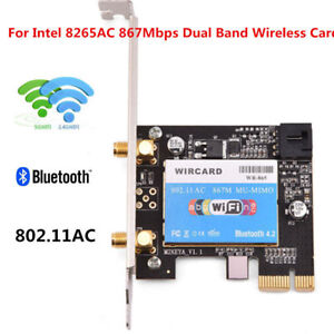 For-Intel-8265AC-2-4-5G-Dual-Band-WiFi-PCI-E-Wireless-Network-Card-Adapter-BT4-2