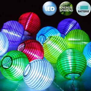 DEUBA® 12 LED Lampions Lichterkette Lampion