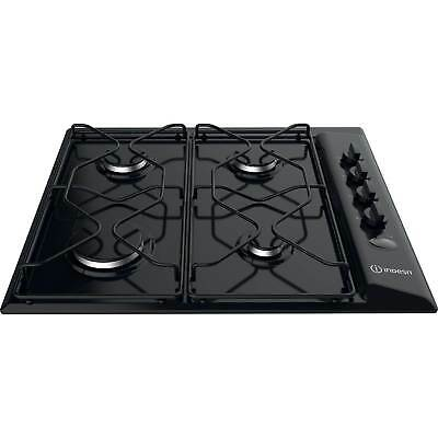 Indesit PAA642/IBK High Power Flame Technology 4 Burners Gas Hob in Black