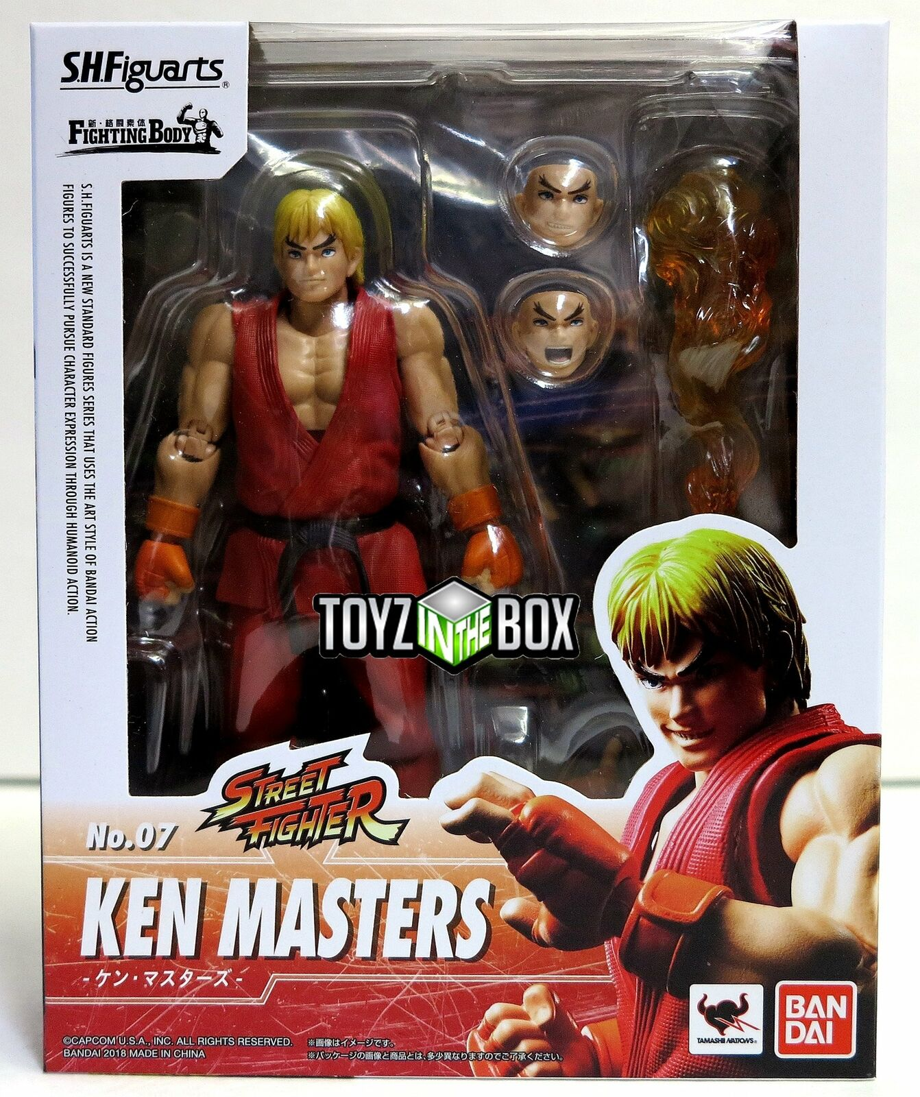 In STOCK S.H. Figuarts Street Fighter V Ken Masters Action Figure