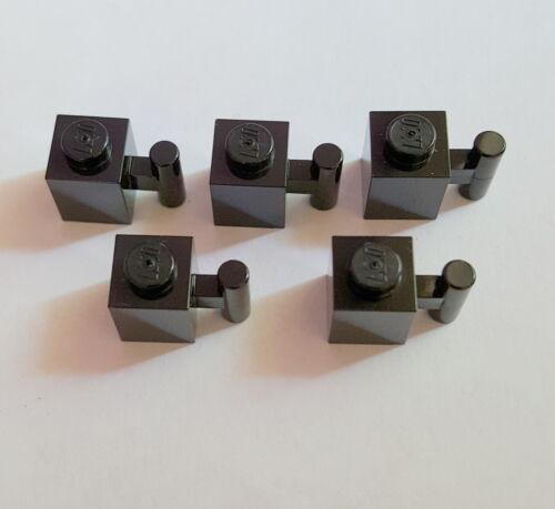 Lego Baustein 2921 mit Griff Stange Halter 1x1 5 Stück Schwarz 01