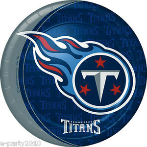 Image is loading NFL-TENNESSEE-TITANS-LARGE-PAPER-PLATES-8-Football- 88737ccff