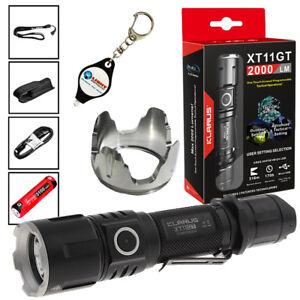 Klarus XT11GT Tactical Rechargeable LED Flashlight Klarus TRS1 Remote Switch