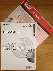 instructions manual quick start user guide for canon pixma mp210 rh ebay co uk canon ip4850 printer user manual canon printer mg2120 user manual