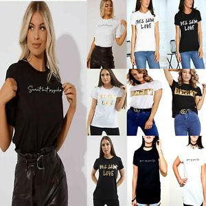 Sweet but PSYCHO Womens Fit T-Shirt Ladies Girls Tops Slogan Printed T Shirt.