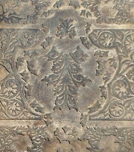 Vintage wood Block For Textile Fabric Handmade & Hand Carved For Printing S2192