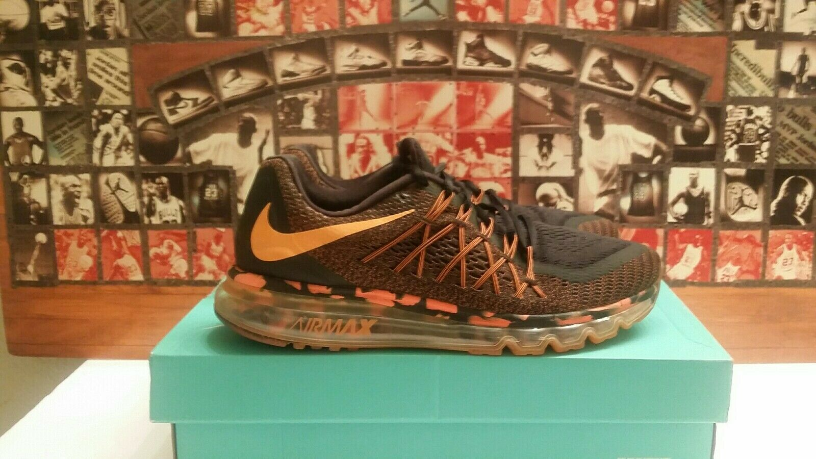 Nike Air Max 360 Premium Black   Total orange 749373-008 Running shoes Sz 10