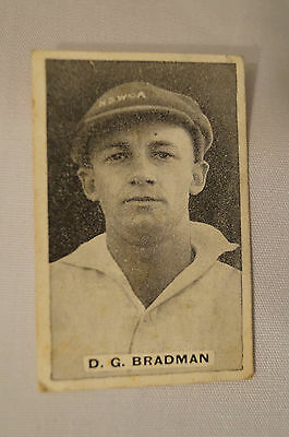 "SWEETACRES ""Test Match Record""- 1930's Vintage Cricket Card - D.G. Bradman."