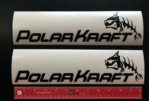 2-TWO-POLAR-KRAFT-Boats-Marine-Decals-12-034-NEW-POLARKRAFT
