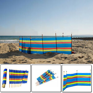 WINDBREAKER 4 5 6 7 8 /& 10 POLES  BEACH CAMPING WIND BREAKER SUN BEACH  SHELTER