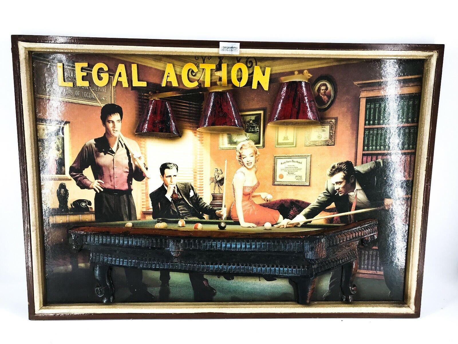 Tisch in Holz Möbel bar Spielzimmer Slot Film Vintage Historische Legal Action