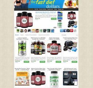 Weight loss Diet Niche eBay Amazon ClickBank Affiliate WebSite + AUTO UPDATE