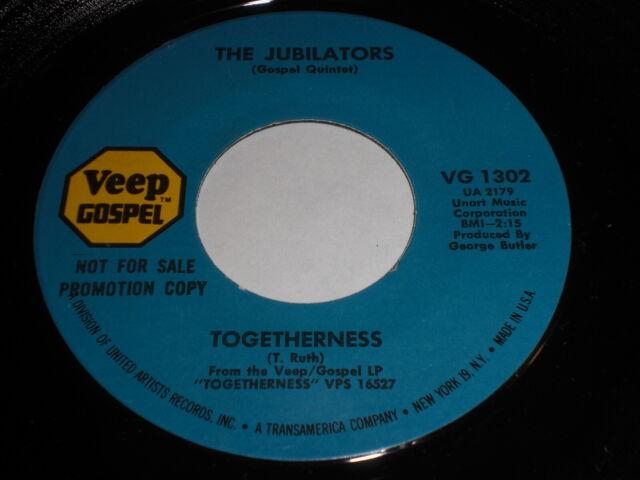 The Jubilators: Togetherness / The Knock At The Door 45 - Gospel