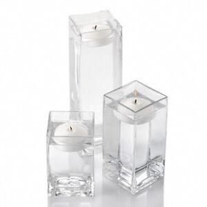 Richland Square Vases Floating Candles 3 Set Of 3 Wedding Decor