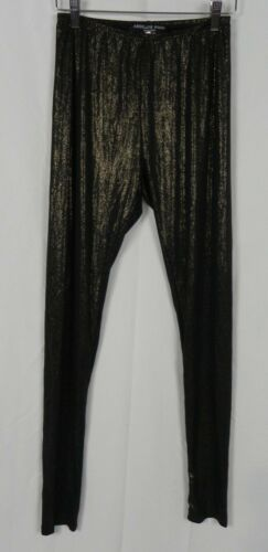 D1-14 NEW Absolute Angel Black /& Metallic Gold Stretch Leggings Pants