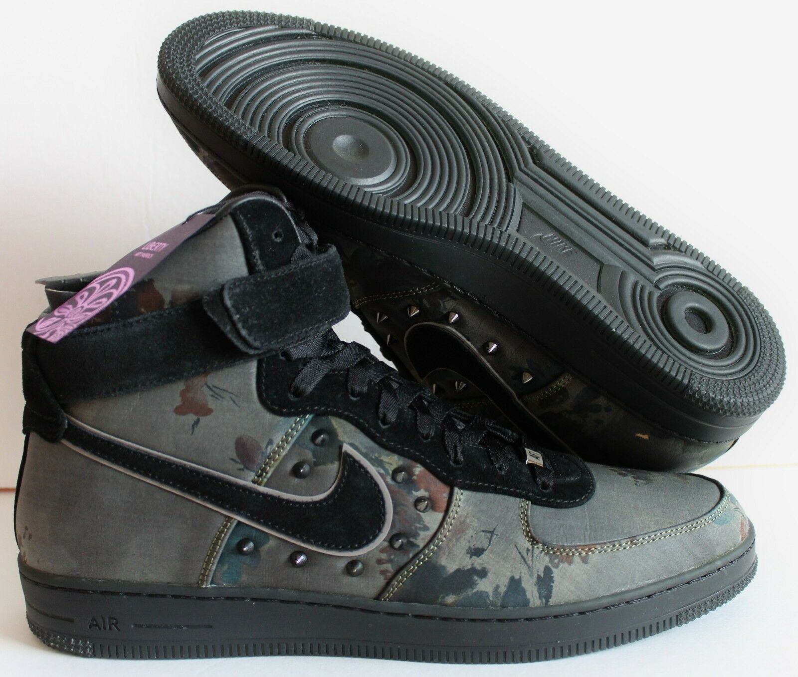 new style 2b31d 2a99a on sale NIKE AIR FORCE 1 AF1 DOWNTOWN NRG BLACK LIBERTY OF LONDON SZ 14 ...