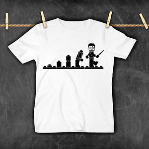 Harry Potter Lego Evolution Boys Girls Kids T-Shirt Brand New Funny Cool Gift