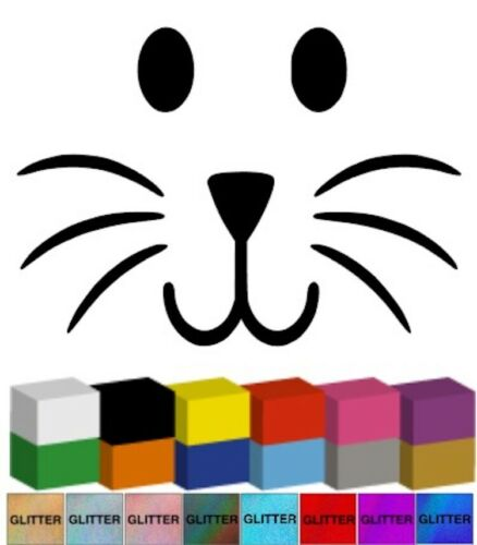 Lapin de Pâques Visage V2 Décalque//Autocollant//Graphique pour lapin de Pâques
