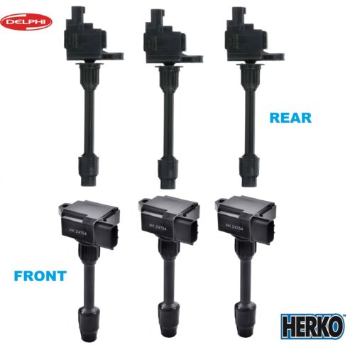 Full Set Herko /& Delphi Ignition Coil B093/_GN10670 For Infiniti Nissan V6 00-01