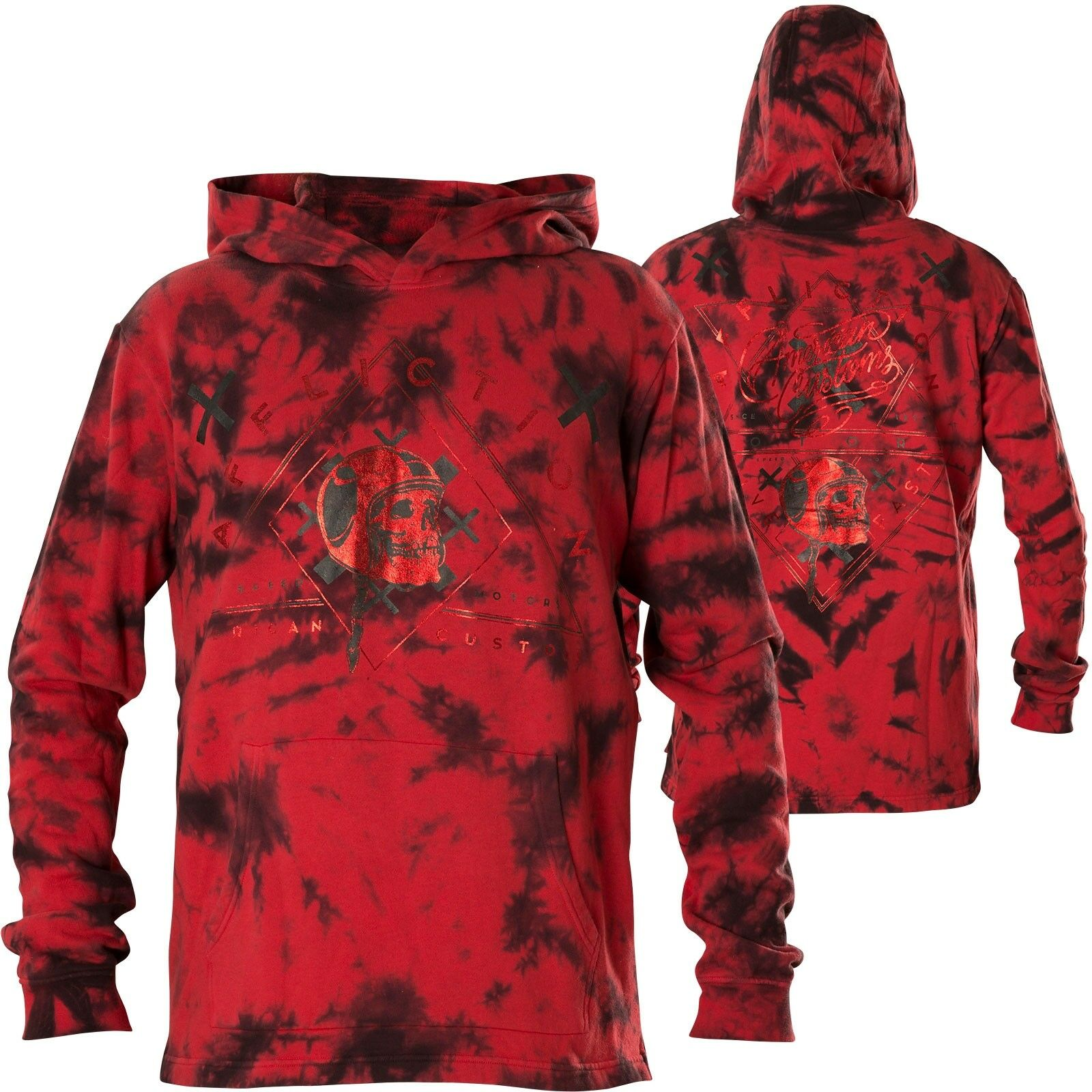 AFFLICTION Hoody AC Reckless Rot Hoodies Herren  Sweatshirts mit