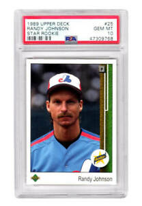 Randy Johnson Expos 1989 Upper Deck Baseball #25 RC Rookie Card -PSA 10 GEM MINT