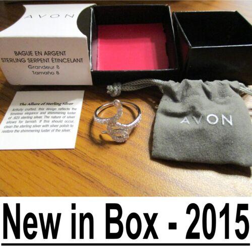 New in Box 2015 Renouvellement//Passion AVON STERLING Argent mousseux Serpent Anneau//Serpent