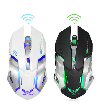 Rechargeable Wireless Mouse 2400DPI 2.4G Gaming Optical Silent Built-in Battery