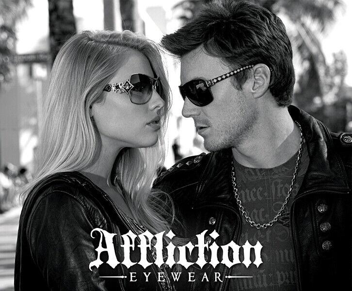 New Affliction Sunglasses Baxter A 64-11-125 3 Color Options