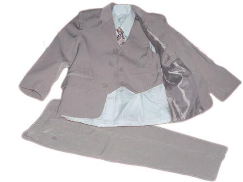 5 teiliger Jungenanzug Kinderanzug Kommunionsanzug Anzug Taufanzug Mike hellgrau