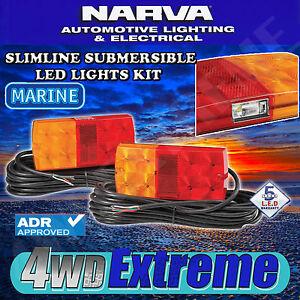 NARVA-LED-SUBMERSIBLE-TRAILER-LAMP-PACK-BOAT-MARINE-L-E-D-LIGHT-BRAKE-93642TP