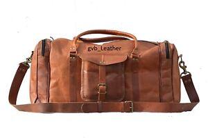 Handmade-Men-039-s-Leather-Vintage-Duffle-Luggage-Weekender-Gym-Carry-on-Travel-Bag
