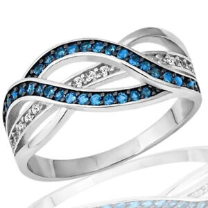 Blue-Topaz-Black-Finish-Infinity-Celtic-Clear-CZ-Sterling-Silver-Ring