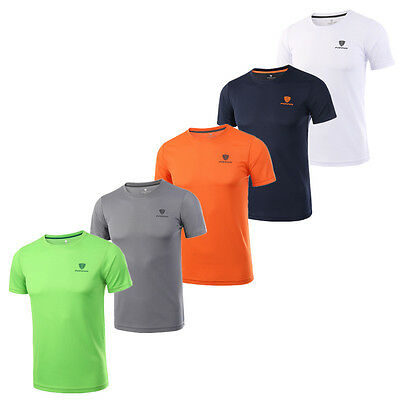 Mens Training Workout Gym T-Shirt Tee Tops Jersey Quick-dry Short Sleeve Shirts