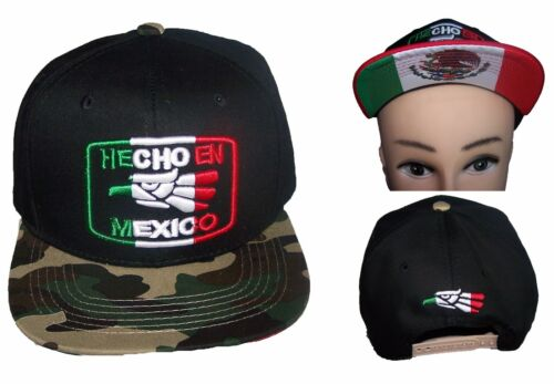 Hecho En Mexico Mexican Baseball Caps Hats  Snap Backs Embroidered CapMx88 Z