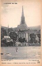 France postcard Thann L'Eglise dans le bas trou de marmites WWI Campane 1914-18
