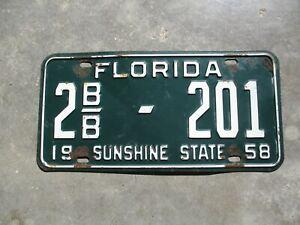 Florida-1958-plate-2b-b-201
