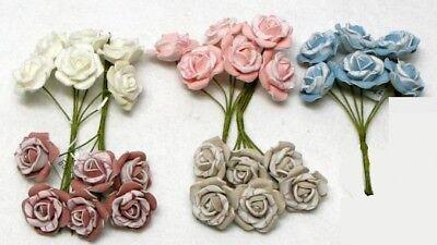 Mazzo Di Fiori Fai Da Te.Fiore Fiori Mazzo Di 6 Rose Bicolore Lattice Con Gambo Bomboniera