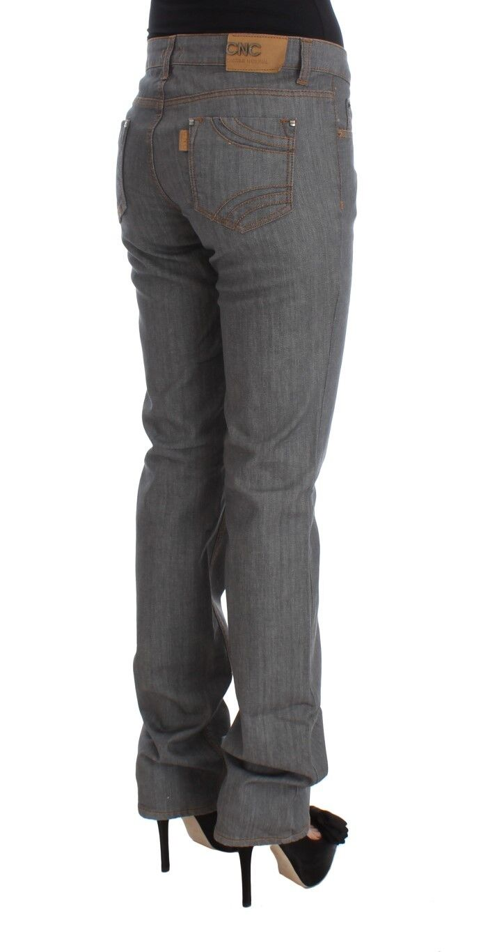 Nuovo Costume National C e e e Pantaloni Jeans Grigio Cotone Regular Fit Denim S.W26 7b15af