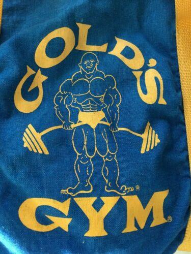 VTG ADVERTISE Blue Golds Gym Duffle Bag BODY BUILD
